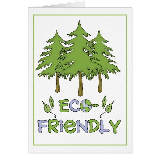 Tarjeta de felicitación amistosa de Eco