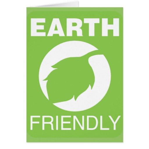 Tarjeta de felicitación amistosa de la tierra