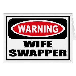 Tarjeta de felicitación amonestadora del SWAPPER d