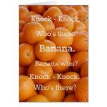 Tarjeta de felicitación anaranjada del chiste del