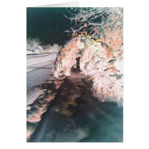 Tarjeta de felicitación anaranjada del resplandor