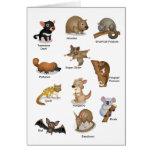 Tarjeta de felicitación animal australiana