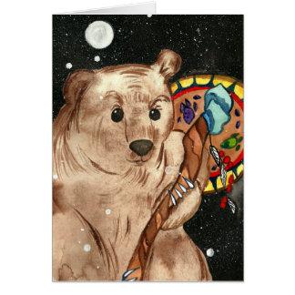 Tarjeta de felicitación animal mágica del Shaman