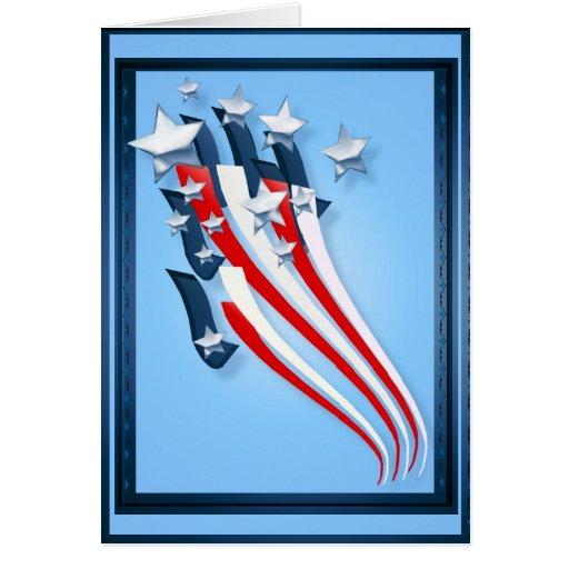Tarjeta de felicitación arrebatadora de la bandera