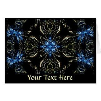 Tarjeta de felicitación - arte 1192 del fractal