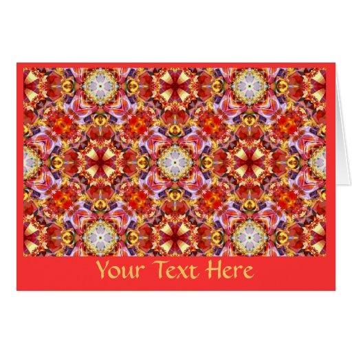 Tarjeta de felicitación - arte 1214 del fractal