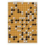 Tarjeta de felicitación asiática del juego de mesa