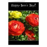 Tarjeta de felicitación atrevida feliz de la flor