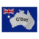 Tarjeta de felicitación australiana del logotipo d
