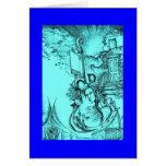 Tarjeta de felicitación azul ambarina