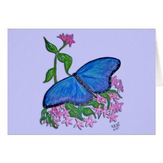 tarjeta de felicitación - azul de la mariposa
