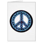 tarjeta de felicitación azul de la paz