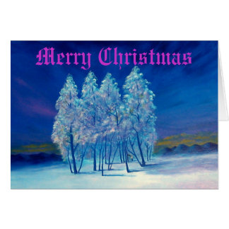 Tarjeta de felicitación azul del navidad #4