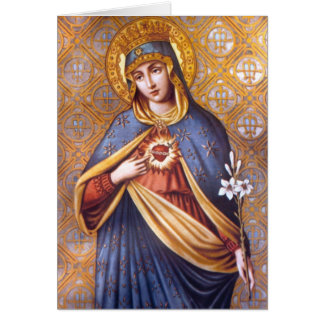 Tarjeta de felicitación bendecida del Virgen María