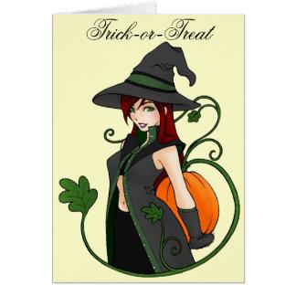 Tarjeta de felicitación Bewitching de Halloween