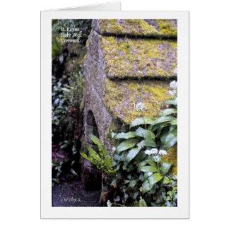 Tarjeta de felicitación bien santa del St. Keyne