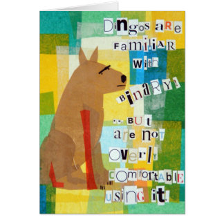 Tarjeta de felicitación binaria del Dingo