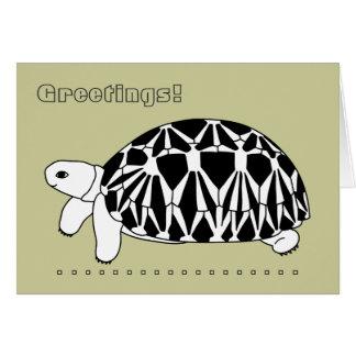 Tarjeta de felicitación birmana de la tortuga de l