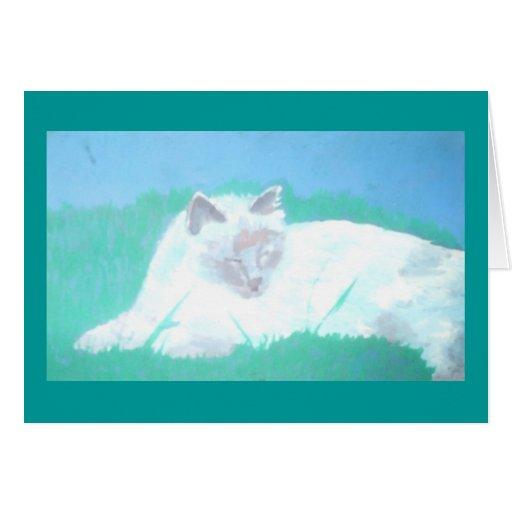 Tarjeta de felicitación BLANCA del CAT