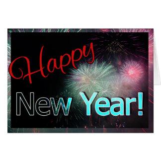 Tarjeta de felicitación bonita de la Feliz Año