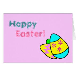 Tarjeta de felicitación brillante de los huevos de