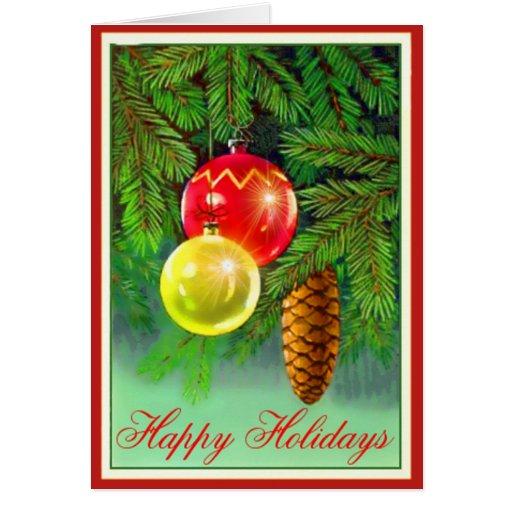 Tarjeta de felicitación brillante del navidad de l