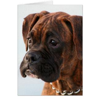 Tarjeta de felicitación Brindle del perrito del bo