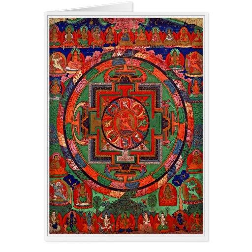 Tarjeta de felicitación budista Tantric de la mand