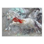 Tarjeta de felicitación - búho Nevado del unicorni