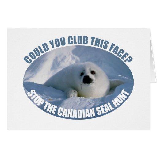 Tarjeta de felicitación canadiense de la caza del