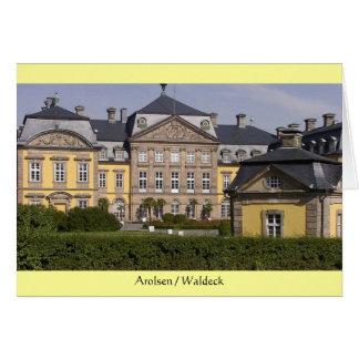 Tarjeta de felicitación Castillo de Arolsen de Wa