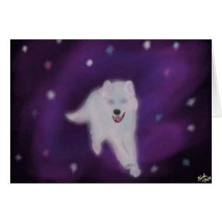 Tarjeta de felicitación celestial de White Wolf