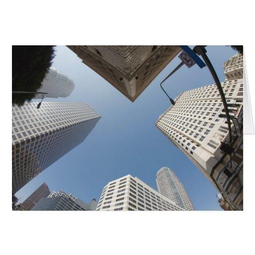 Tarjeta de felicitación céntrica de Los Ángeles