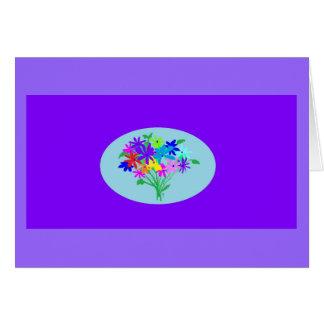 tarjeta de felicitación, chapoteo de flores colori