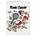 Tarjeta de felicitación - chicas del tenis