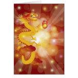 Tarjeta de felicitación china del dragón