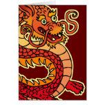 Tarjeta de felicitación china roja del dragón