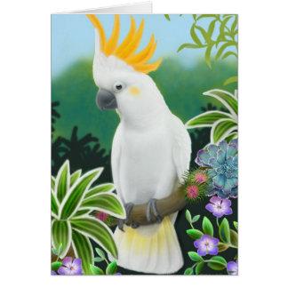Tarjeta de felicitación cítrica del Cockatoo