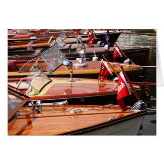 Tarjeta de felicitación clásica de los barcos