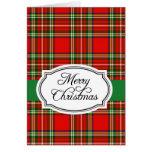 Tarjeta de felicitación clásica del navidad