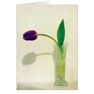 Tarjeta de felicitación colgante púrpura del