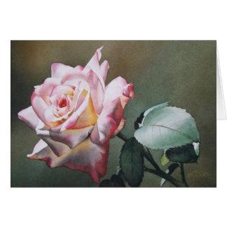 Tarjeta de felicitación color de rosa crepuscular
