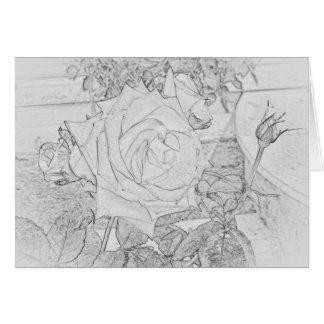 Tarjeta de felicitación color de rosa de la hoja