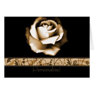 Tarjeta de felicitación color de rosa de oro