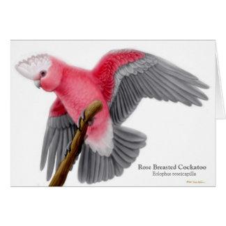 Tarjeta de felicitación color de rosa del Cockatoo