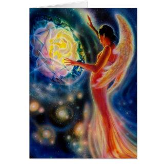 Tarjeta de felicitación color de rosa mística