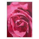 Tarjeta de felicitación color de rosa rosada de la