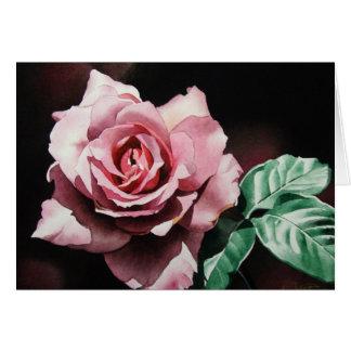 Tarjeta de felicitación color de rosa rosada oscur