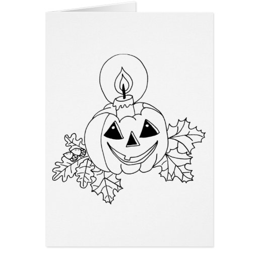 Tarjeta de felicitación � colorear para Halloween