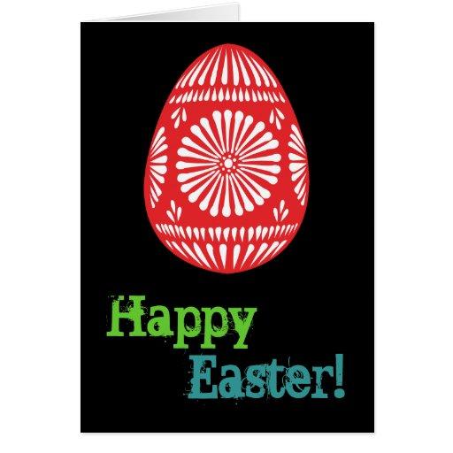 Tarjeta de felicitación colorida de los huevos de